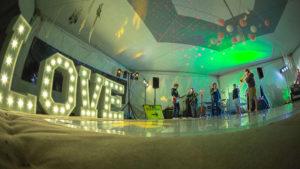 Marquee dance floor hire Devon